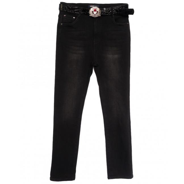 6258 Like джинсы женские батальные на байке черные зимние стрейчевые (31-38, 6 ед.) Like: артикул 1115280