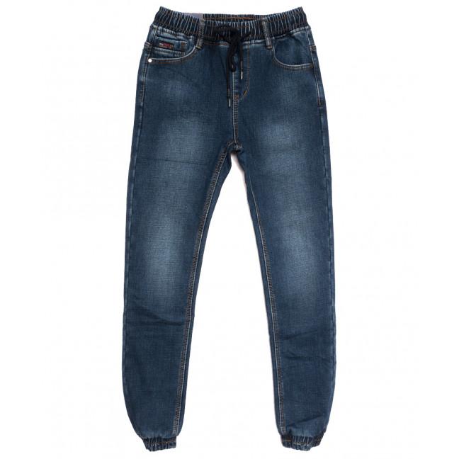7577 Crossnese джинсы мужские молодежные на резинке на флисе синие зимние стрейчевые (27-34, 8 ед.) Crossnese: артикул 1115557