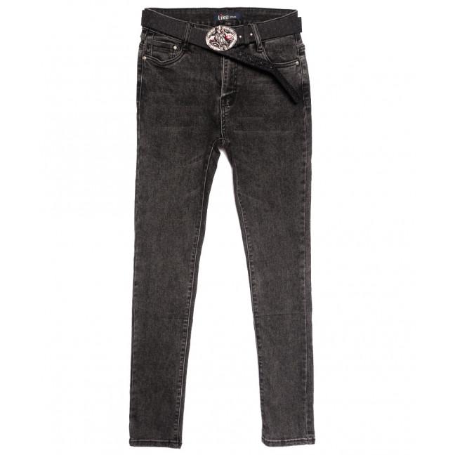 6232 Like джинсы женские полубатальные серые осенние стрейчевые (28-33, 6 ед.) Like: артикул 1115268
