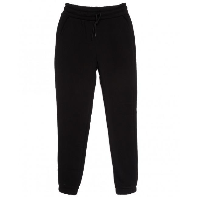 0239-44 Exclusive брюки женские спортивные на флисе черные зимние стрейчевые (42-48,норма, 4 ед.) Exclusive: артикул 1115957