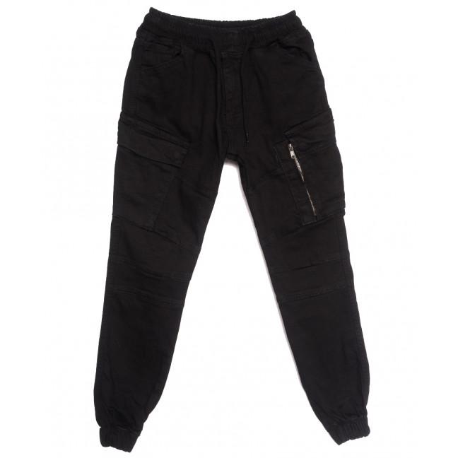 0432 Siyah Komando Redman брюки карго мужские молодежные черные осенние стрейчевые (26-32, 8 ед.) REDMAN: артикул 1115366