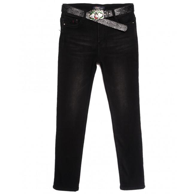 6260 Like джинсы женские полубатальные на байке черные зимние стрейчевые (28-33, 6 ед.) Like: артикул 1115293