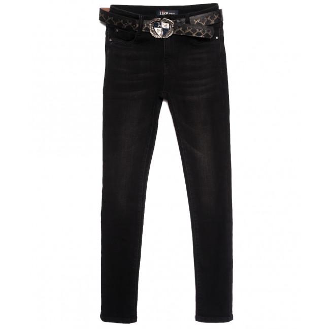 6268 Like джинсы женские на байке черные зимние стрейчевые (25-30, 6 ед.) Like: артикул 1115275