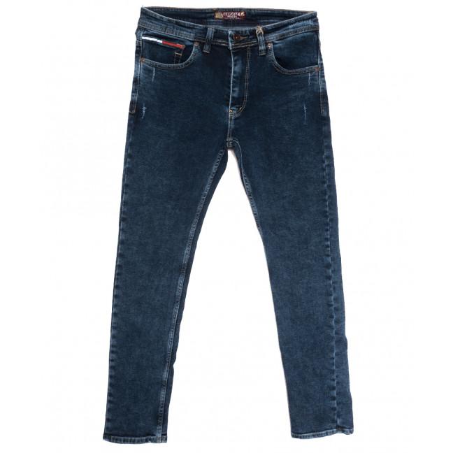 7260 Redcode джинсы мужские полубатальные с царапками синие осенние стрейчевые (32-40, 8 ед.) Redcode: артикул 1115592
