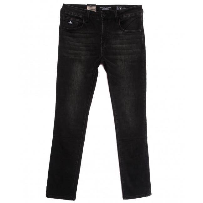 2305 Fang джинсы мужские полубатальные на байке черные зимние стрейчевые (32-42, 8 ед.) Fang: артикул 1115287