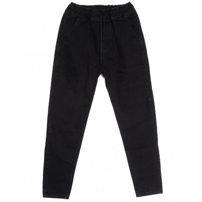 2973 джинсы женские на резинке с царапками черные осенние коттоновые (25-32, 8 ед.) Джинсы: артикул 1116027
