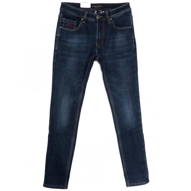 9377 God Baron джинсы мужские молодежные на флисе синие зимние стрейчевые (28-36, 8 ед.) God Baron: артикул 1115452