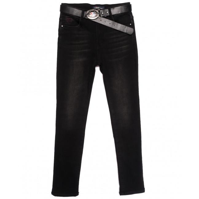 6259 Like джинсы женские батальные на байке черные зимние стрейчевые (30-36, 6 ед.) Like: артикул 1115279