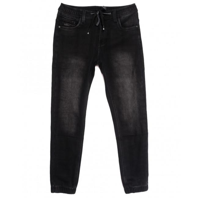 1592 Bagrbo джинсы мужские молодежные на резинке на флисе серые зимние стрейчевые (27-34, 8 ед.) Bagrbo: артикул 1115399