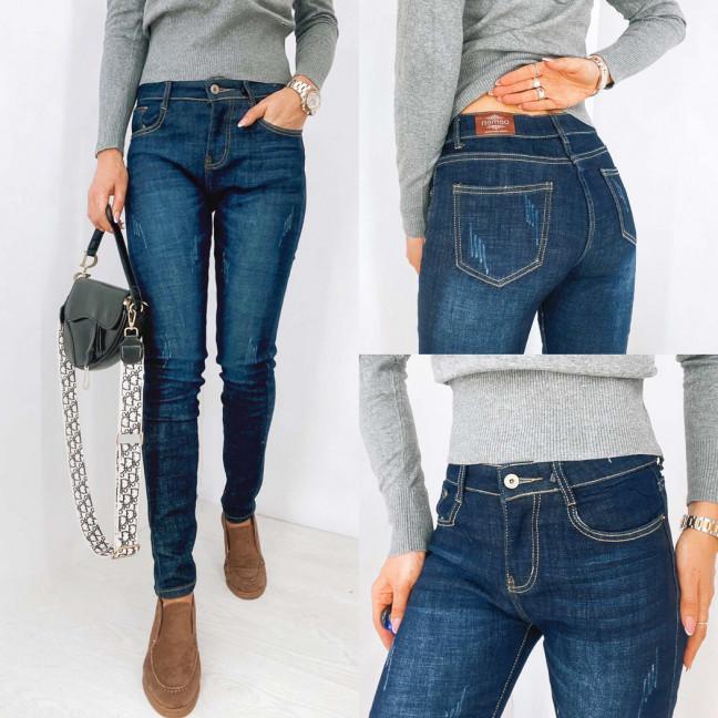 0104 Oemen джинсы женские на байке с царапками синие зимние стрейчевые (27-32, 5 ед.) Oemen: артикул 1116551