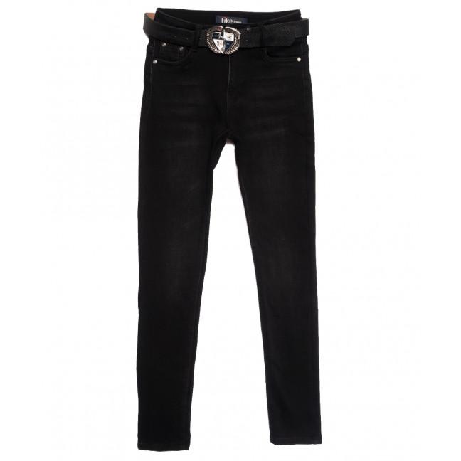6263 Like джинсы женские на байке черные зимние стрейчевые (25-30, 6 ед.) Like: артикул 1115273