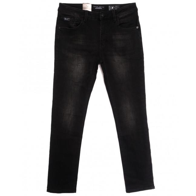 2303 Fang джинсы мужские полубатальные на байке черные зимние стрейчевые (32-40, 8 ед.) Fang: артикул 1115285