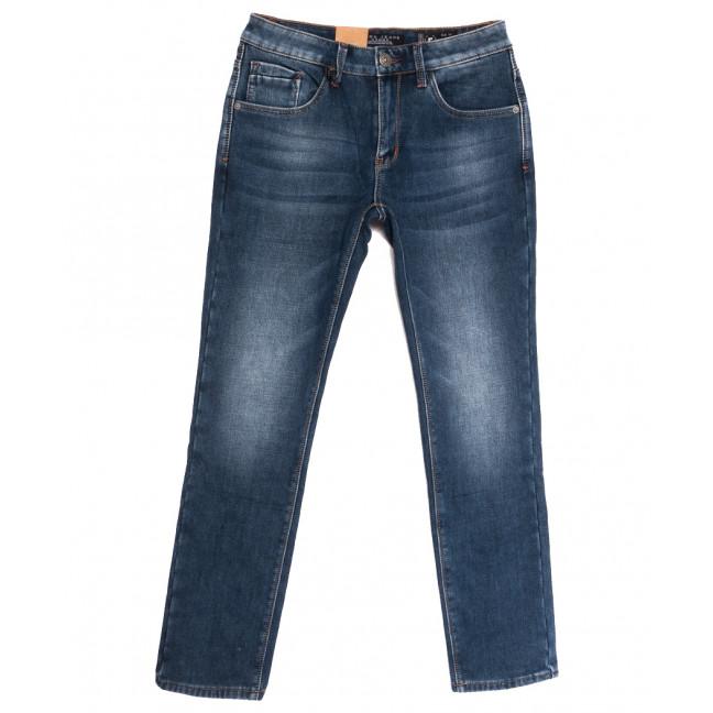2308 Fang джинсы мужские на флисе синие зимние стрейчевые (30-38, 8 ед.) Fang: артикул 1115291