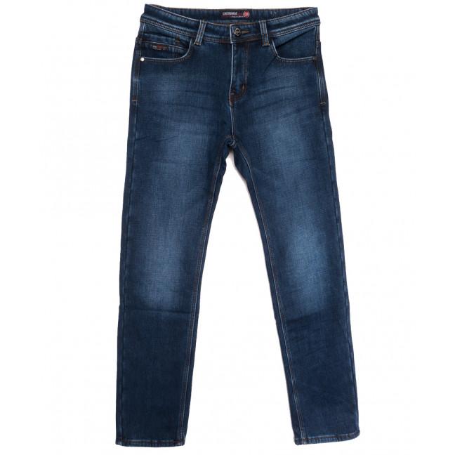 7592 Crossnese джинсы мужские на флисе синие зимние стрейчевые (30-40, 8 ед.) Crossnese: артикул 1115560