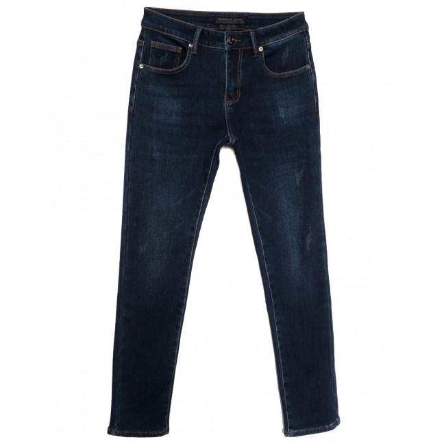 26777 Reigouse джинсы мужские на флисе с царапками синие зимние стрейчевые (29-38, 8 ед.) REIGOUSE: артикул 1115718