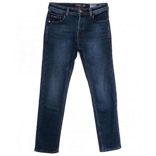 7590 Crossnese джинсы мужские на флисе синие зимние стрейчевые (29-38, 8 ед.) Crossnese: артикул 1115562