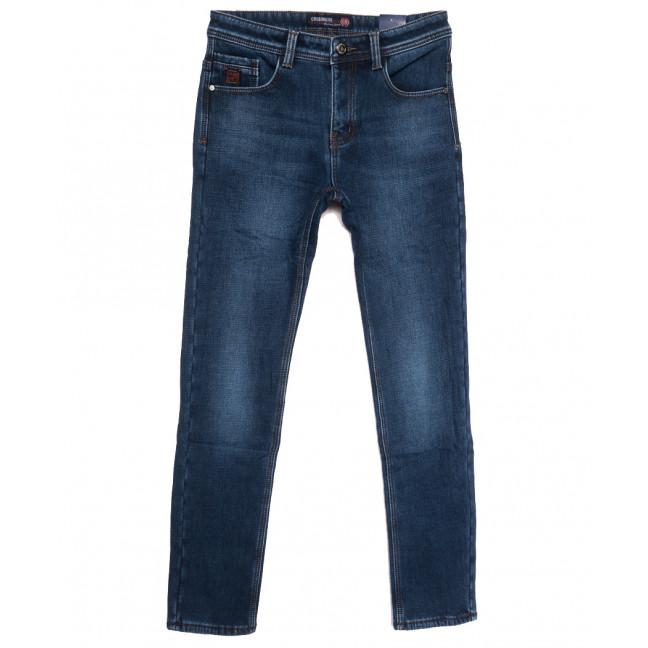 7591 Crossnese джинсы мужские на флисе синие зимние стрейчевые (29-38, 8 ед.) Crossnese: артикул 1115559