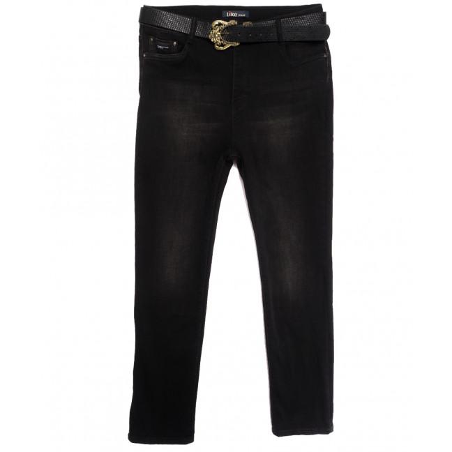6261 Like джинсы женские батальные на байке черные зимние стрейчевые (31-38, 6 ед.) Like: артикул 1115281