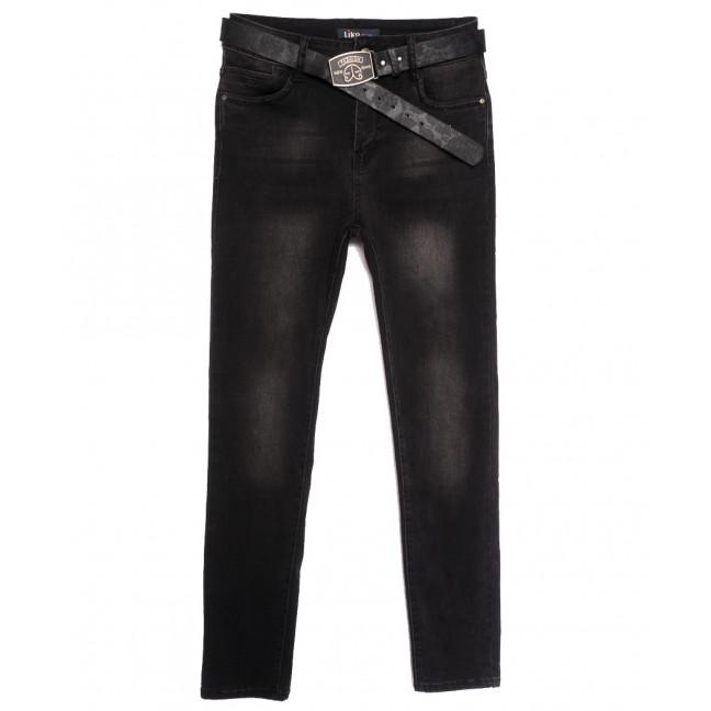 6236 Like джинсы женские батальные темно-серые осенние стрейчевые (30-36, 6 ед.) Like: артикул 1115271