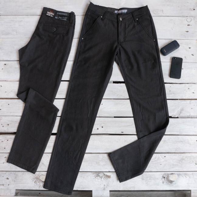 5999 Vigoocc брюки мужские молодежные черные осенние котоновые (28-33, 6 ед.) Vigoocc: артикул 1116134