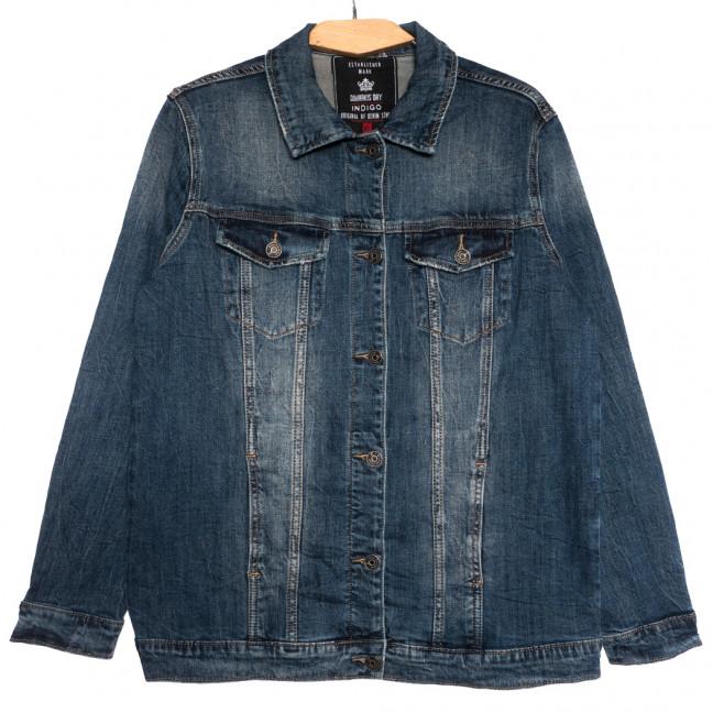 3051 Dimarkis Day куртка джинсовая женская батальная синяя осенняя стрейчевая (XL-6Xl, 6 ед.) Dimarkis Day: артикул 1115688
