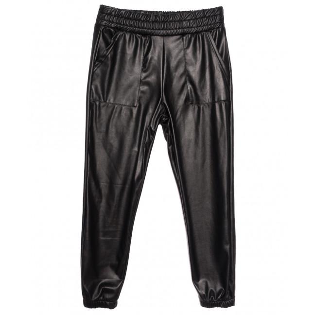 1957 брюки женские на байке из кожзама черные зимние стрейчевые (S-XL, 4 ед.) Брюки: артикул 1116125