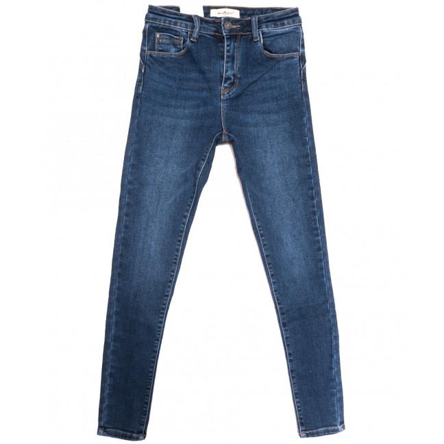 0383 Moon girl джинсы женские на байке синие зимние стрейчевые (26-31, 6 ед.) Moon Girl: артикул 1115891