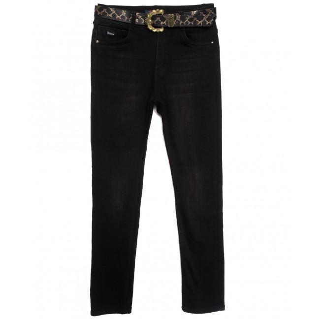 6265 Like джинсы женские батальные на байке черные зимние стрейчевые (30-36, 6 ед.) Like: артикул 1115278