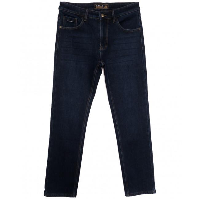 00999 T-Star джинсы мужские полубатальные на флисе темно-синие зимние стрейчевые (32-40, 8 ед.) T-Star: артикул 1115724