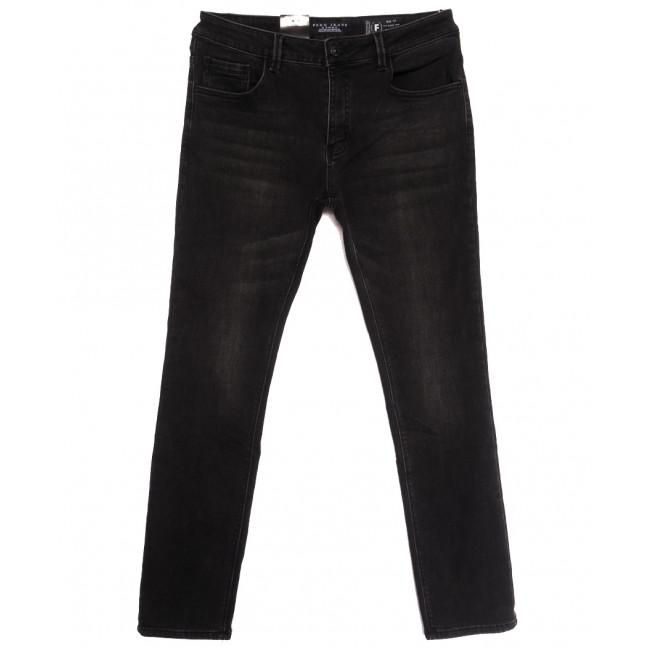 2300 Fang джинсы мужские на байке черные зимние стрейчевые (30-38, 8 ед.) Fang: артикул 1115288