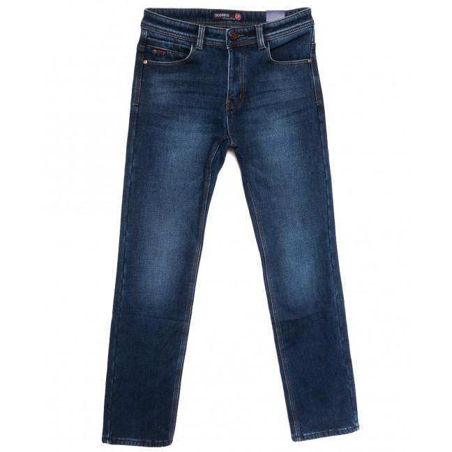 7593 Crossnese джинсы мужские на флисе синие зимние стрейчевые (30-38, 8 ед.) Crossnese: артикул 1115558