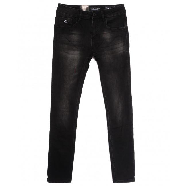 2297 Fang джинсы мужские на байке черные зимние стрейчевые (29-36, 8 ед.) Fang: артикул 1115289