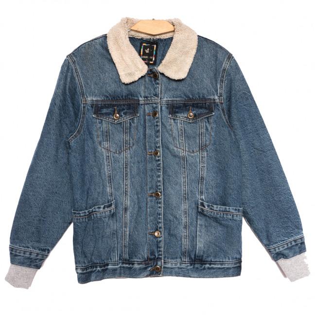 3058 Dimarkis Day куртка джинсовая женская полубатальная синяя осенняя коттоновая (L-4XL, 5 ед.) Dimarkis Day: артикул 1115818