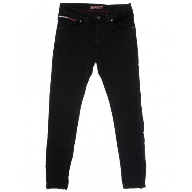 7275 Redcode джинсы мужские полубатальные с царапками черные осенние стрейчевые (32-40, 8 ед.) Redcode: артикул 1115593