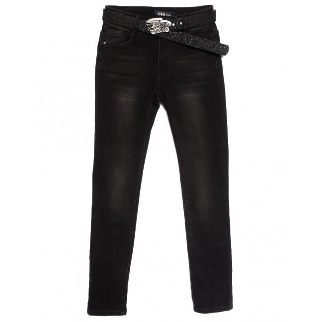 6262 Like джинсы женские полубатальные на байке черные зимние стрейчевые (28-33, 6 ед.) Like: артикул 1115277