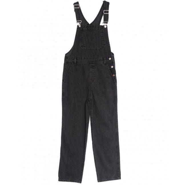 4025 комбинезон джинсовый женский серый осенний коттоновый (XS-L, 6 ед.) Комбинезон: артикул 1115174