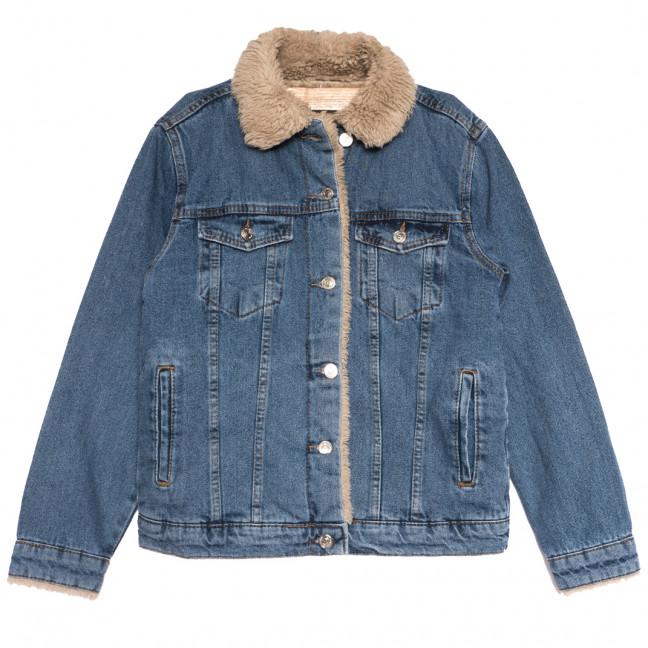 2363 куртка джинсовая женская синяя осенняя коттоновая (S-L, 5 ед.) Куртка: артикул 1116180