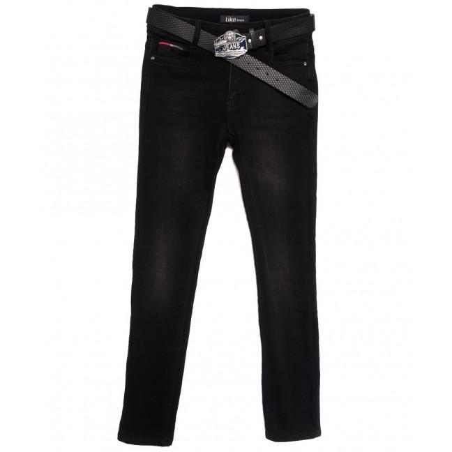 6266 Like джинсы женские полубатальные на байке черные зимние стрейчевые (28-33, 6 ед.) Like: артикул 1115274