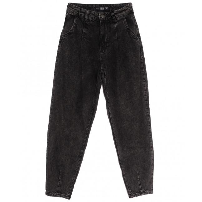 1224-5 Real Focus джинсы-баллон черные осенние коттоновые (26-30, 5 ед.) Real Focus: артикул 1116137