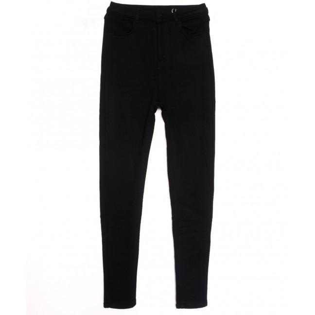 0606 Crosstyle джинсы женские полубатальные на флисе черные зимние стрейчевые (28-33, 6 ед.) Crosstyle: артикул 1115570
