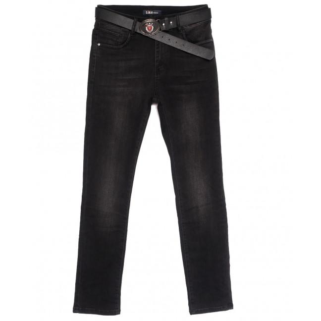 6237 Like джинсы женские батальные темно-серые осенние стрейчевые (31-38, 6 ед.) Like: артикул 1115270