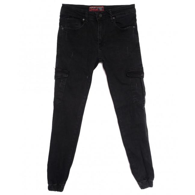 7299 Redcode джинсы мужские на резинке с царапками черные осенние стрейчевые (29-36, 8 ед.) Redcode: артикул 1115590