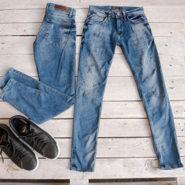 1613 Exclusive джинсы мужские синие весенние стрейчевые (29-36,8 ед.) Exclusive: артикул 1116842
