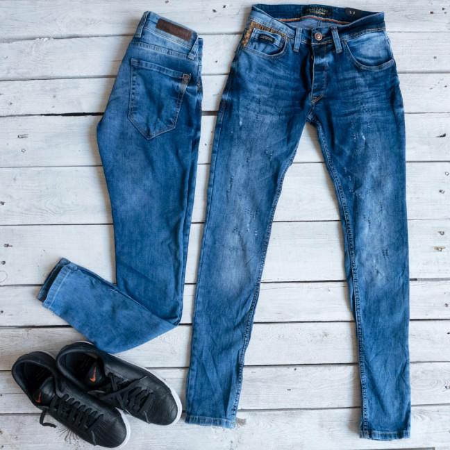 0209 Exclusive джинсы мужские синие весенние стрейчевые (29-36,8 ед.) Exclusive: артикул 1116844