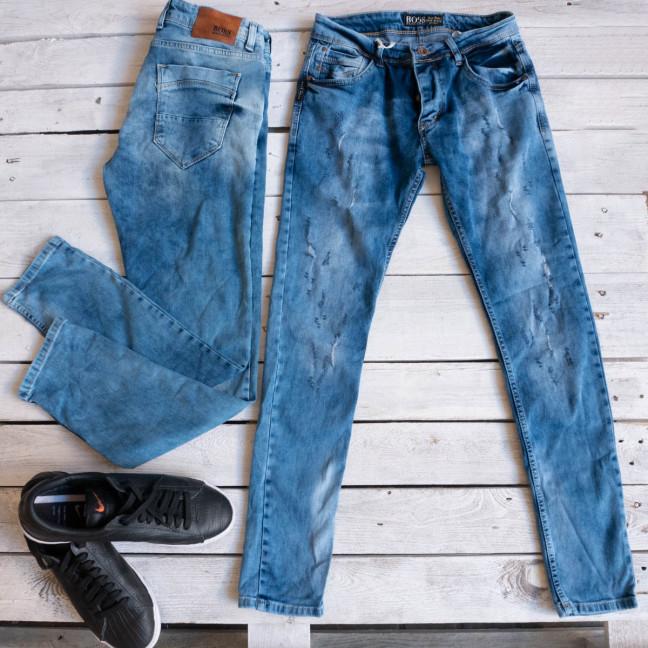0057 Exclusive джинсы мужские синие весенние стрейчевые (29-36,8 ед.) Exclusive: артикул 1116848