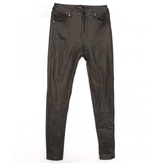 5027-25 M.Sara брюки женские на байке из кожзама хаки зимние стрейчевые (27-32, 6 ед.) M.Sara: артикул 1116359