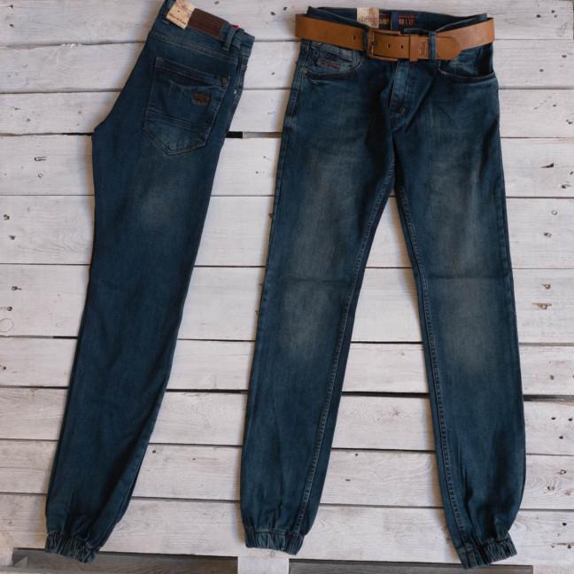 5544 Black Lee джоггеры мужские молодежные синие стрейчевые (7 ед.размеры: 27.28.29.30.31.32.33) Black Lee: артикул 1116921