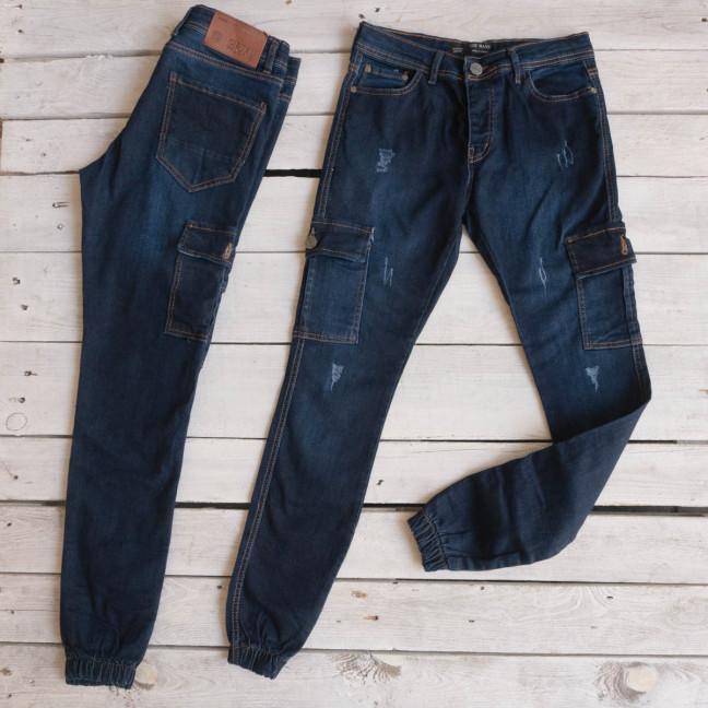 8007 джинсы мужские синие осенние стрейчевые (30-38, 8 ед.) Джинсы: артикул 1116943