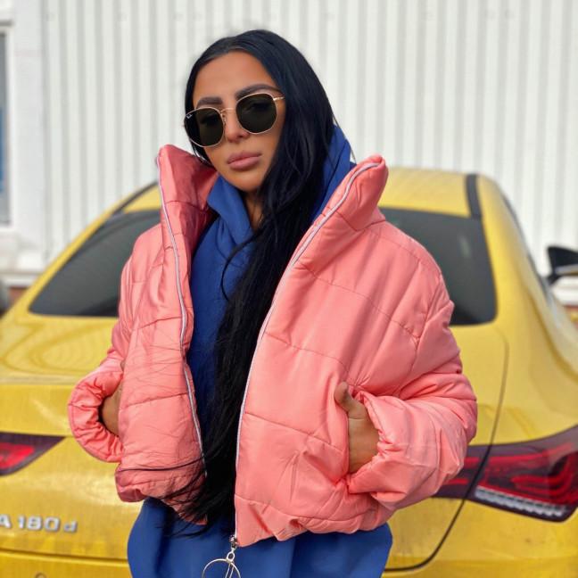 81288-1 пудра SRT куртка женская на синтепоне (4 ед. размеры:S.M.L.XL) SRT: артикул 1116626