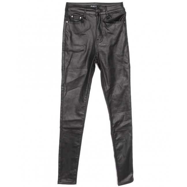 1005 Amor брюки женские на байке из кожзама черные зимние стрейчевые (26-32, 6 ед.) Amor: артикул 1116348